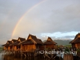 On our second day at Inle Lake, we were blessed with the gift of a beautiful rainbow just as we pulled back up to our gorgeous floating bungalow.