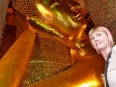 The HUGE, golden Reclining Buddha at Wat Pho. Truly amazing.... copy